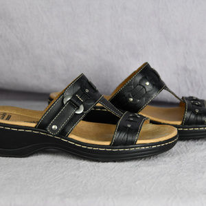 Clarks Collection Black Sandals Sip On Size 9 M